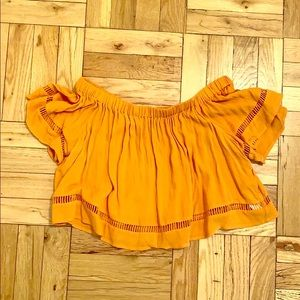Forever 21 Never worn orange off the shoulder top